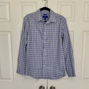 Egara Non Iron Slim Fit Blue/Black Dress Shirt